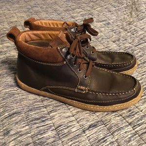 Clark's boots brown leather size 13